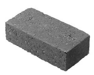Charlotte Block 4 x 8 x 2 in. Concrete Brick in Grey CBRICK248