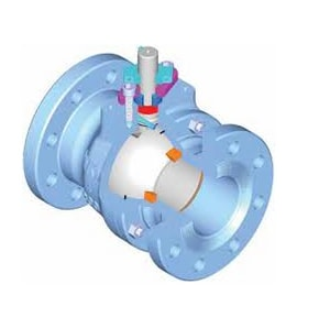 WKM 310 Series 6 in. Carbon Steel Full Port Flanged 300# Ball Valve WB128CS42CSGOU