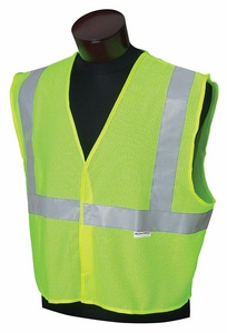 Jackson Safety M and L Size High Visibility and Reflective Vest in Lime J22849