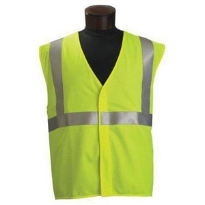 Jackson Safety 3XL and 4XL Size Safety Standard High Visibility Vest in Lime J22809