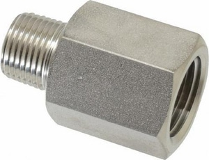 1 in. Weld x MIP 304 Stainless Steel Adapter G19WB14G