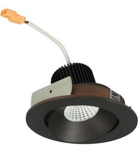 Nora Lighting NIO-4 Series 4-93/100 in. 3000K Adjustable Round Regressed Cone Trim in Bronze NNIO4RC30XBZ