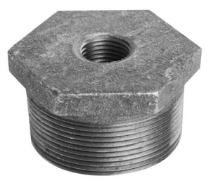 1-1/2 X 1 Galvanized Cast Iron HEX Bushing WGBJG