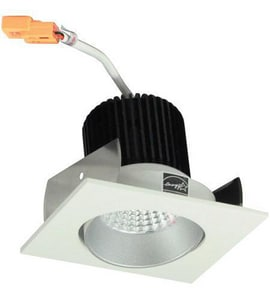 Nora Lighting NIO-2 Series 3-11/20 in. 2700K Adjustable Square Regressed Cone Trim in White and Haze NNIO2SC27XHW