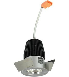 Nora Lighting 2-3/8 in. 3000K Non-Adjustable Round Straight Regressed Trim in Natural Metal NNIO1RNG30XNN