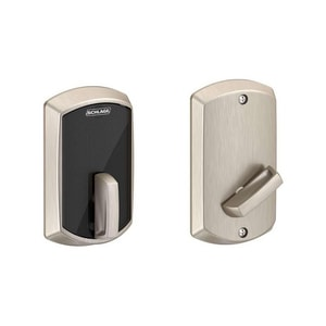 Schlage Lock Smart Control Door Lock with Accent Lever in Aged Bronze SBE467F