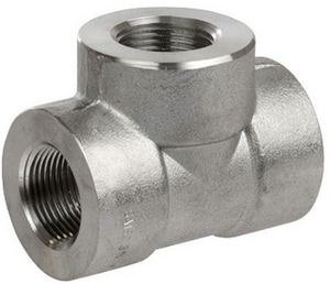 1 x 1 x 3/4 in. Threaded 3000# Reducing 304L Stainless Steel Tee IS4L3TTGGF