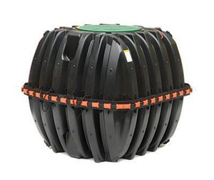 Infiltrator Systems 54-3/5 in. Compartment Septic Tank with Plumbing IIM5401P