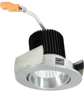 Nora Lighting NIO-2 Series 3-11/20 in. 4000K Adjustable Round Regressed Cone Trim in Natural Metal NNIO2RC40XNN