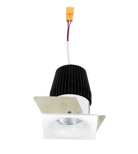 Nora Lighting 2-3/8 in. 3000K Square Bull Nose Regressed Curved Reflector Trim in White NNIO1SNB30XWW
