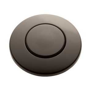 Signature Hardware 2-3/16 x 1-3/16 in. Sink Top Switch Button in Matte Black SHASB2MB
