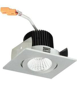 Nora Lighting NIO-2 Series 3-11/20 in. 2700K Adjustable Square Surface Gimbal Trim in Natural Metal NNIO2SG27XNN