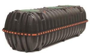 Infiltrator Systems Series IM 1537 gal Polypropylene Double Compartment Septic Tank with 2 Manholes IIM1530P2MBF0011P6