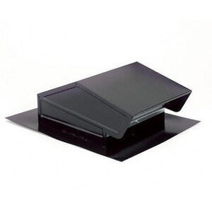 Broan Nutone 18-3/4 x 6-5/8 in. Roof Vent Steel in Black and in Electrocoat Acrylic B634