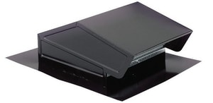 Broan Nutone 11 x 4-3/8 in. Roof Vent Steel in Black and in Electrocoat Acrylic B636