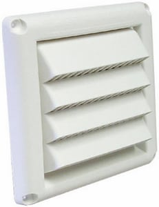Deflecto 6 x 5/8 in. in White Louvered Hood DHSM6