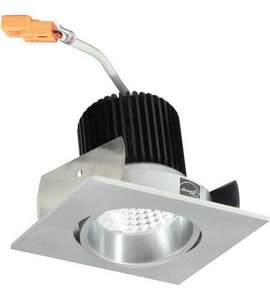 Nora Lighting NIO-2 Series 3-11/20 in. 2700K Adjustable Square Regressed Cone Trim in Natural Metal NNIO2SC27XNN