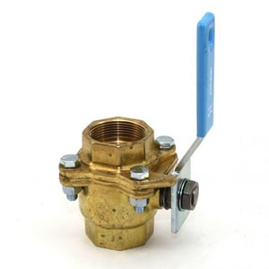 Jamesbury Clincher® Series 2000 1-1/2 in. Brass Standard Port Threaded 2 piece Ball Valve with PTFE Seat J211136TT0J