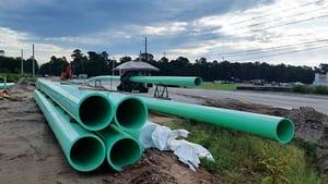 10 in. PVC Pressure Pipe in Green DR18FFP10