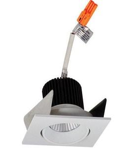 Nora Lighting NIO-2 Series 3-11/20 in. 4000K Adjustable Square Regressed Cone Trim in White NNIO2SC40X