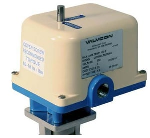 Valvcon LCR Series 115 V Electric Die Cast Zinc Alloy and Zinc Plated Steel Actuator VLCR600LS115AC