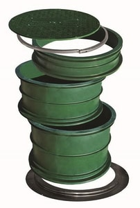 Infiltrator Systems 18 in. Riser for Polybutylene Septic Tank in Green ITWRISER18