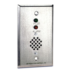 Apollo America MS Series Remote Alarm LED Switch with Horn in Brushed Stainless Steel AMSRHPA