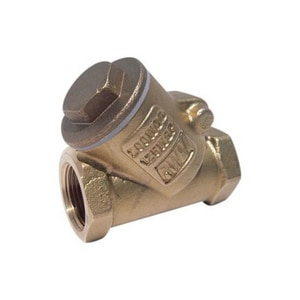 Red-White Valve Figure 236AB 1-1/4 in. Brass FNPT Check Valve R236ABH