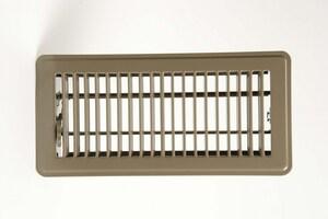 PROSELECT® 10 x 4 in. Floor Register for Residential in Brown Steel PSFDP10