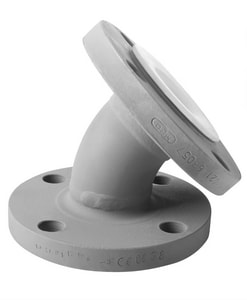 Crane Resistoflex Company 3 in. 150# Ductile Iron 45 Degree Bend with Polypropylene Lined RE500P1VV0N300
