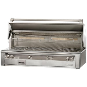 Alfresco 26-3/4 x 26 in. 110000 BTU 7-burner Built-in Grill in Stainless Steel AALXE56BFGNG