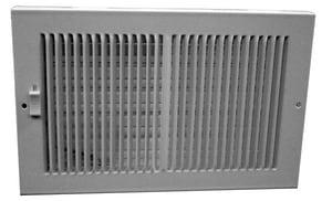 PROSELECT® 10 x 6 in. Residential Baseboard Register in White 2-way Steel PSBBR783W10U