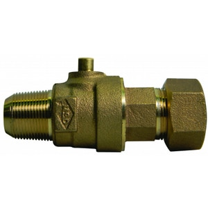A.Y. McDonald 3/4 x 1 in. CC x CTS Compression Reducing Brass Water Service Corporation Stop M74701BTFG