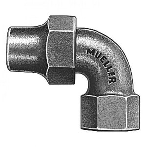 Mueller Company 3/4 x 1/4 in. Copper Flare x FIP Quarter Bend Water Service Brass Coupling MH15460NF