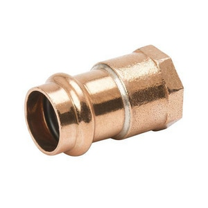 Streamline® PRS™ 1/2 x 3/8 in. Press x FNPT Reducing Copper Adapter MPF012