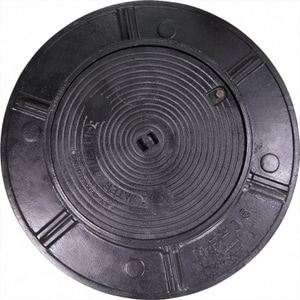 A.Y. McDonald 36 in. Cast Iron Flange and Cover with Right Tap M74M36T
