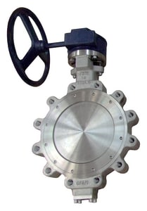 FNW® HP Series 24 in. Carbon Steel RTFE Gear Operator Handle Butterfly Valve FNWHP1WCTG24
