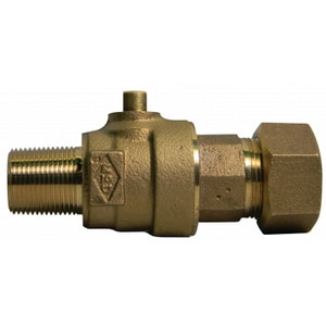 A.Y. McDonald 2 in. MNPT x CTS Compression 300 psi Brass Water Service Corporation Stop M74704BTK