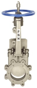 FNW® Figure 2000B 12 in. 316 Stainless Steel Flanged Knife Gate Valve FNW2000BT12