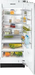 Miele Appliances MasterCool Series 29-3/4 x 84 in. 16.27 cf Built-in Full Refrigerator with Right Hinge in Stainless Steel MK1803SFSS