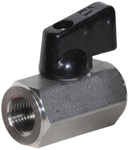 Midwest Control 1/4 in. 316 Stainless Steel Full Port FPT 1000# Ball Valve MSSMF25NL