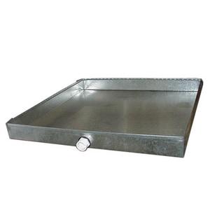 32 x 55 in. 26 ga Drain Pan with PVC Nipple SHMDP263255