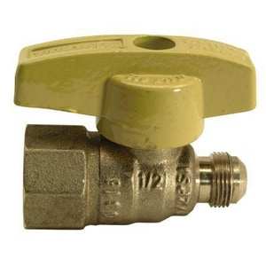 TBV Series Brass OD Flare x FIP T-Handle Gas Ball Valve BTBV10