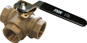 FNW 1 in. Brass T-Port NPT 400# Ball Valve FNW455