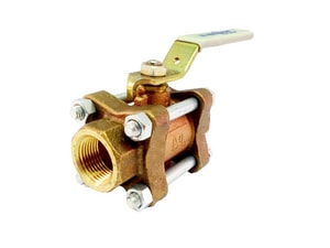 Milwaukee Valve UPBA300 1/2 in. Cast Bronze Full Port Threaded 600# Ball Valve MUPBA300