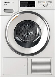 Miele Appliances 25-31/100 x 34-3/4 x 23-1/2 in. 4.1 cf Electric 12-Cycle Front Load Dryer in White MTWI180WP