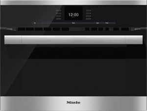 Miele Appliances SensorTronic Series 23-7/16 in. 1.52 cf Electric Single Wall Oven in Clean Touch Steel MH6500BMSS