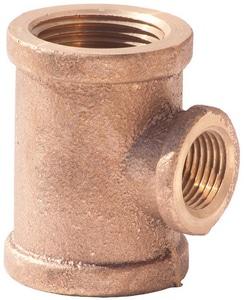 1/2 x 1/2 x 3/8 in. FNPT Brass  Reducing Tee IBRLFTDDC