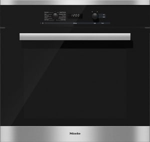 Miele Appliances DirectSelect 23-3/4 x 27-3/4 x 30 in. 4.6 cf Convection Single Wall Oven in Clean Touch Steel MH6280BPSS