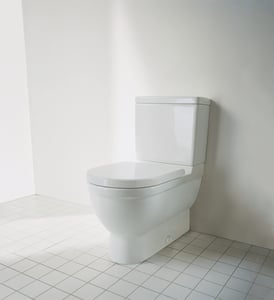 Duravit Starck 3 Round Closed Front With Cover in White D0063810000